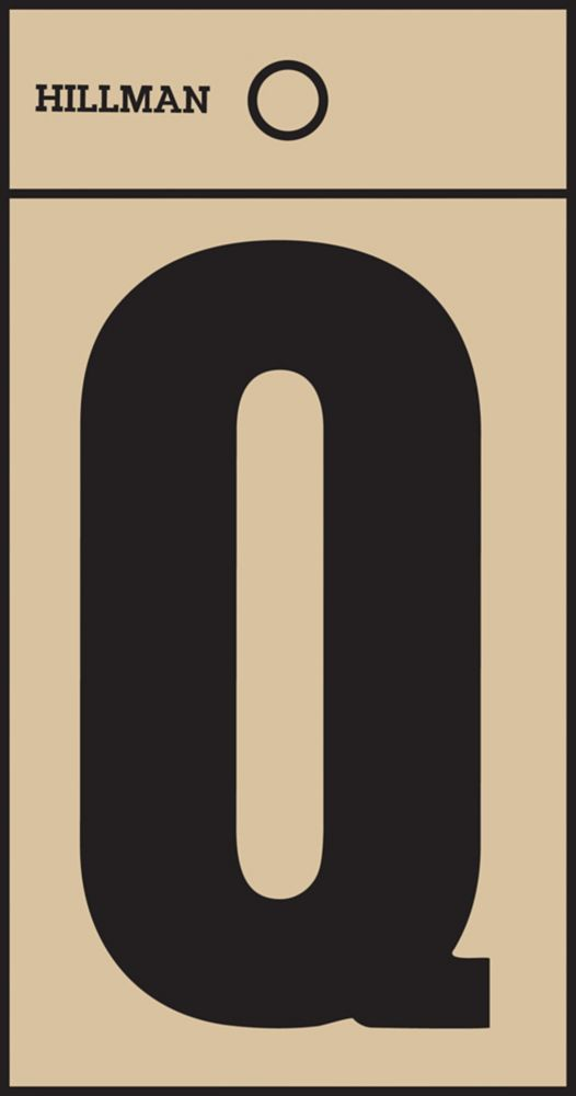 2 Inch Black & Gold Mylar Sticker Q