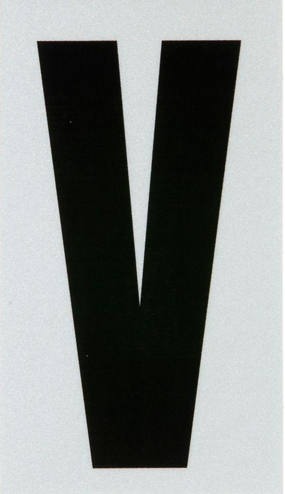 3 Inch Black & Silver Reflec Mylar V