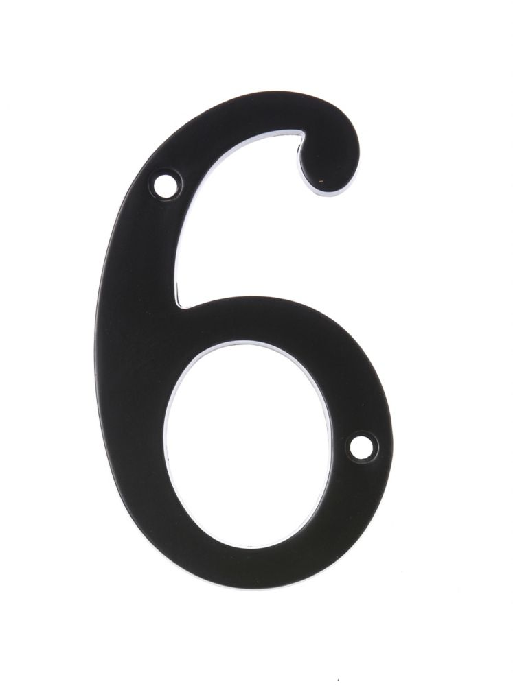 6 Inch Black House Number 6