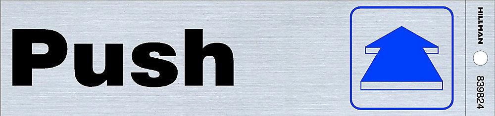 2x8 Sign - Push