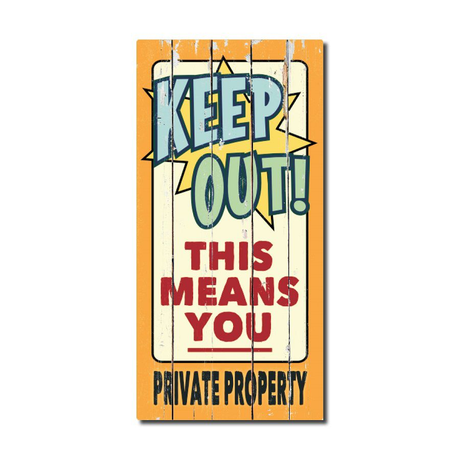 Rustic Wood Sign - Keep Out