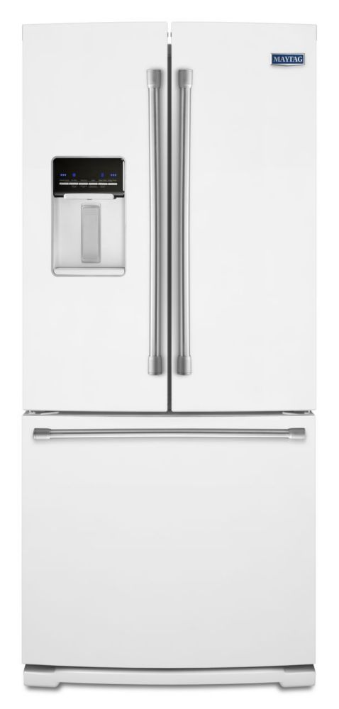 Maytag 19 7 cu ft french door refrigerator with icemaker for 19 cu ft french door refrigerator