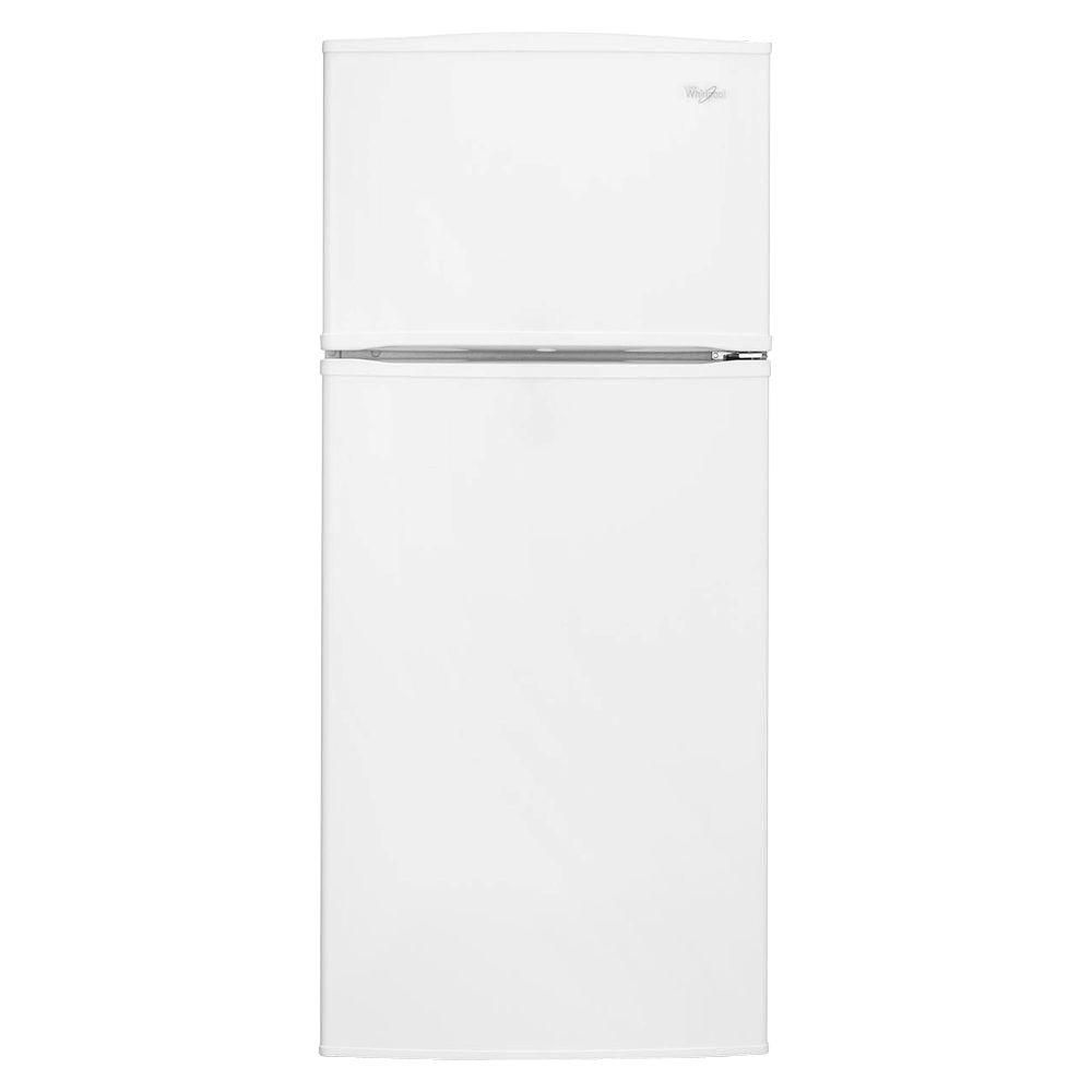 Whirlpool 28-inch 16 cu. ft. Top Freezer Refrigerator with Improved Design in White