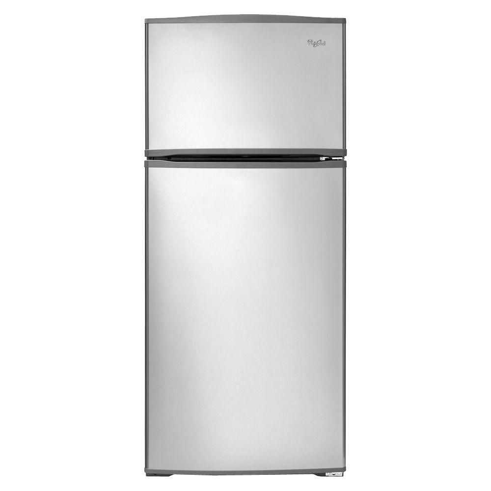 16 cu. ft. Top Freezer Refrigerator with Improved Design in Stainless Steel