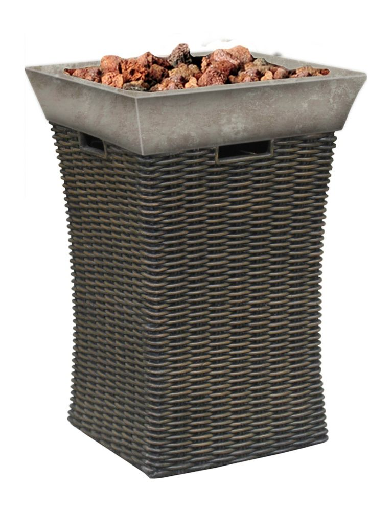 Resin Wicker Outdoor Fire Bowl