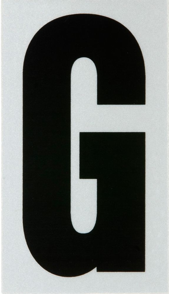 3 Inch Black & Silver Reflec Mylar G