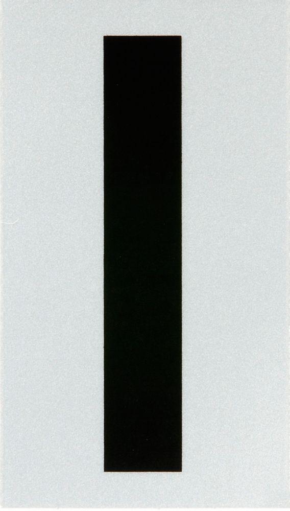 3 Inch Black & Silver Reflec Mylar I