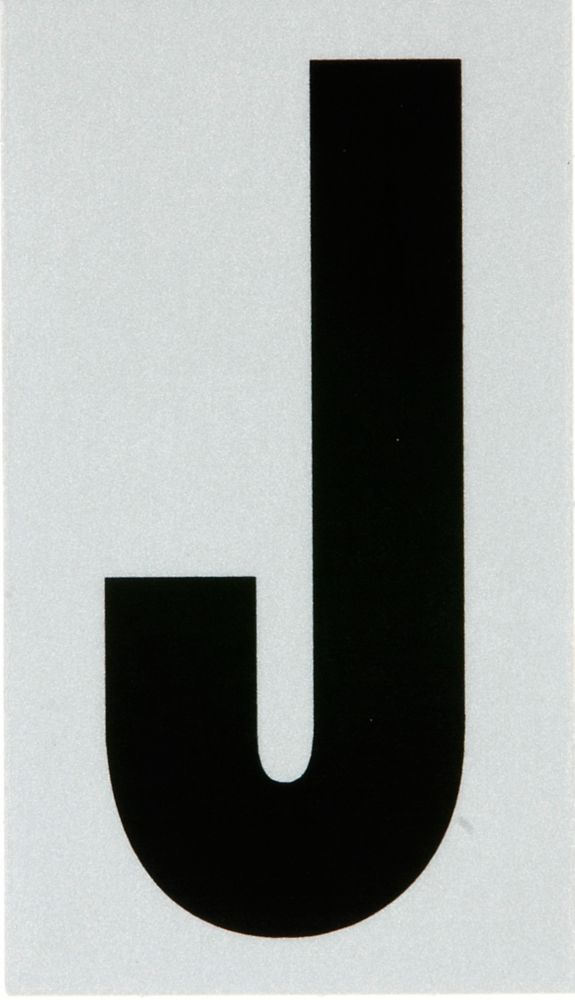 3 Inch Black & Silver Reflec Mylar J