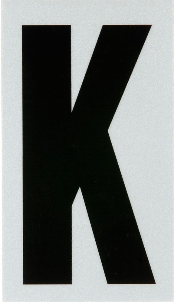 3 Inch Black & Silver Reflec Mylar K
