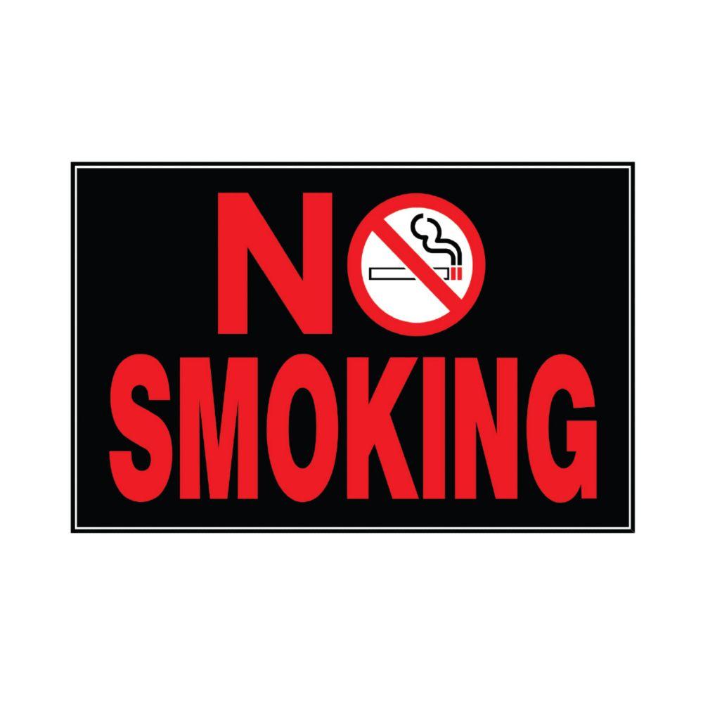 Hillman 10-inch x 14-inch Aluminum Sign No Smoking