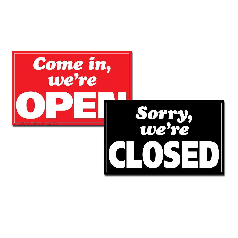 12 X 19 Min Jumbo Sign - We're Open / Closed