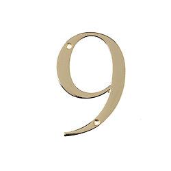 Hillman Numéro D'adresse 4 Po, Fini Laiton, 9