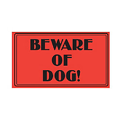 Hillman 10-inch x 14-inch Aluminum Sign Vintage Beware Of Dog
