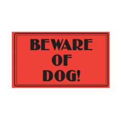 Hillman 10-inch x 14-inch Aluminum Sign Vintage Beware Of Dog