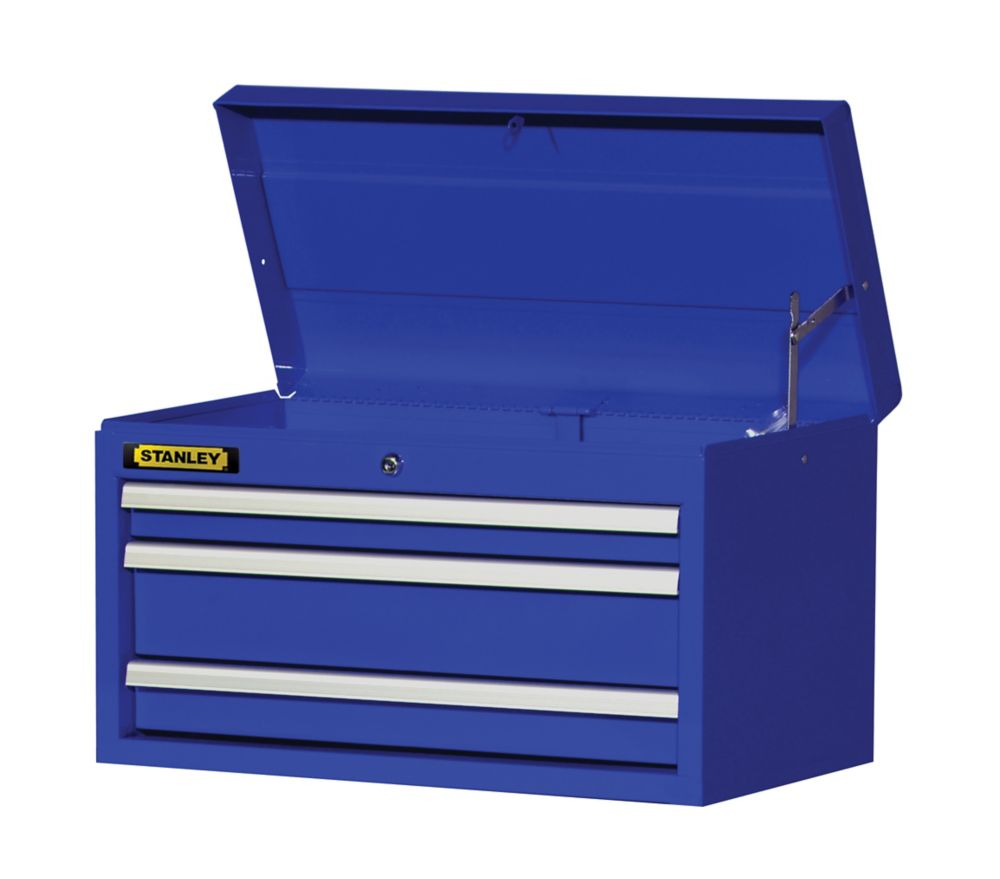 27 Inch 3 drawer Top Chest, Blue