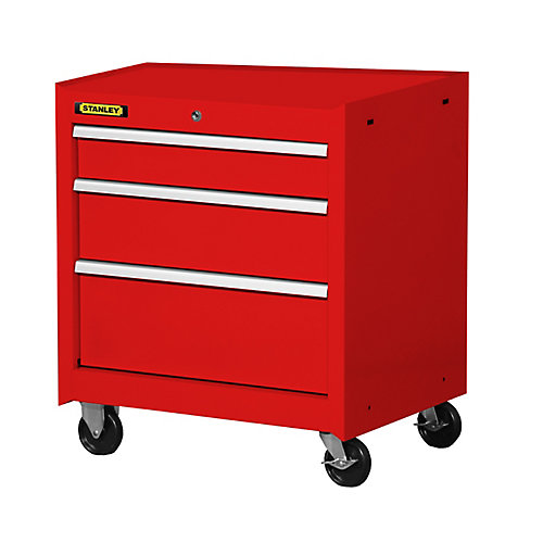 27 Inch 3 drawer Cabinet, Red