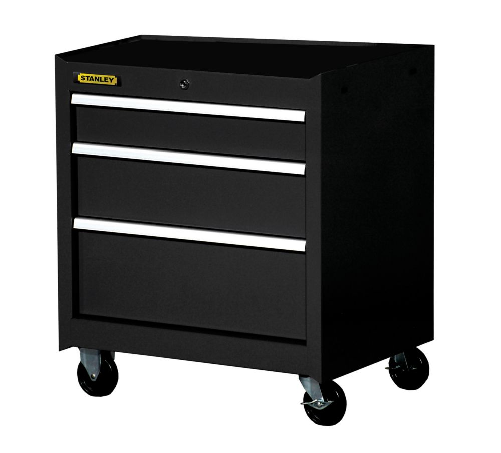 27 Inch 3 drawer Cabinet, Black