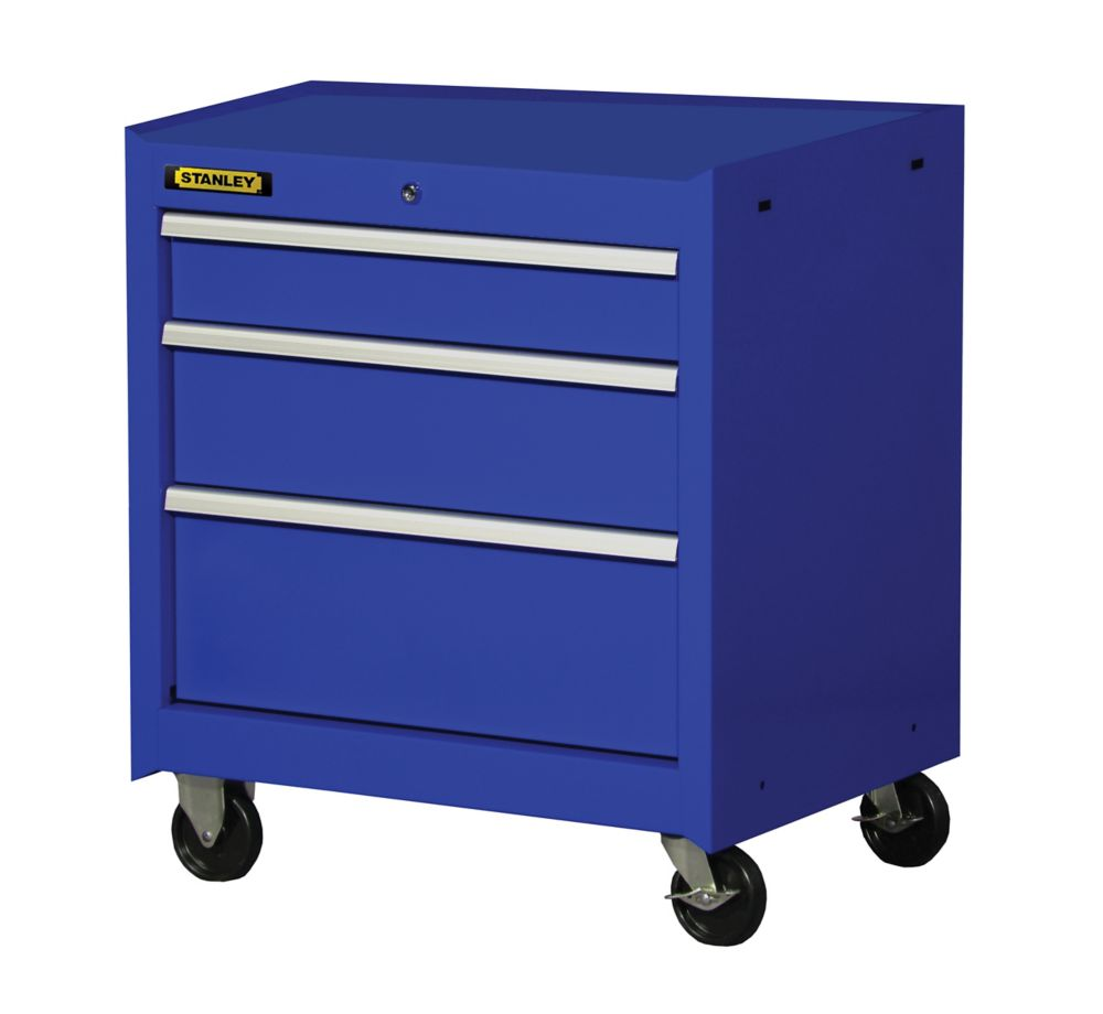 27 Inch 3 drawer Cabinet, Blue