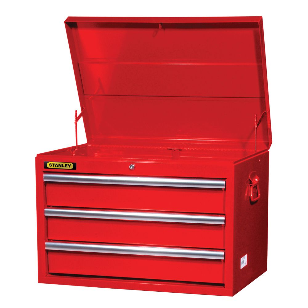 27 Inch 3 Drawer Deep Top Chest, Red