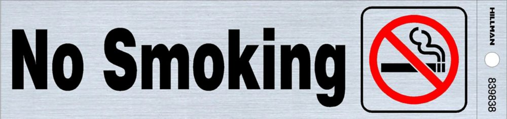 2x8 Sign - No Smoking