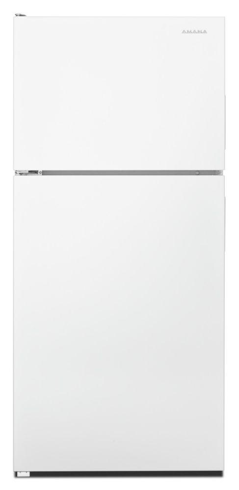 Amana 30-inch W 18 cu.ft. Top-Freezer Refrigerator in White.