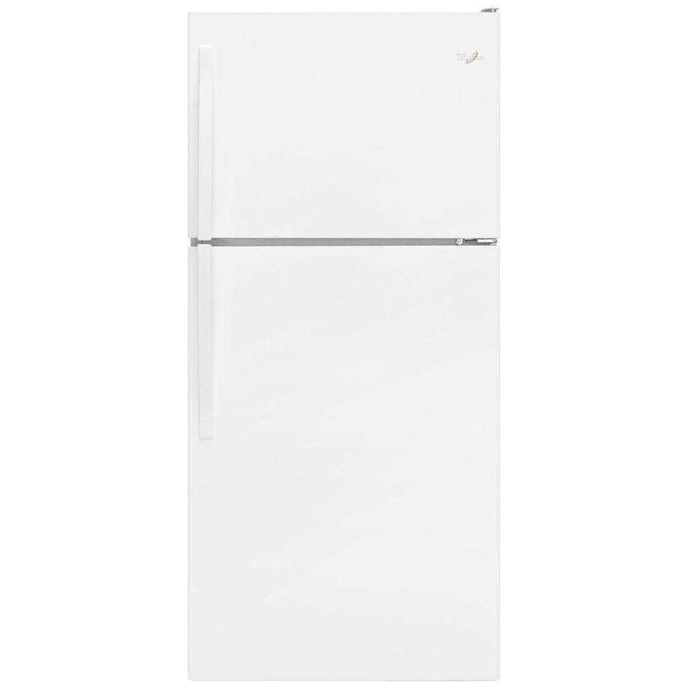 Réfrigérateur à congélateur supérieur et de 18 pi cu, blanc - WRT318FZDW