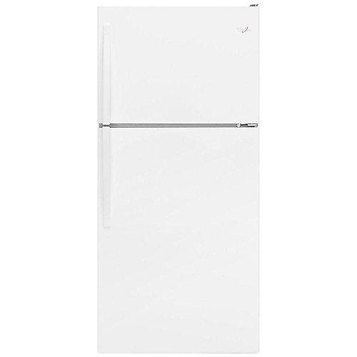 Réfrigérateur à congélateur supérieur avec bac FlexiSlide, 30po L, 18pi³, blanc