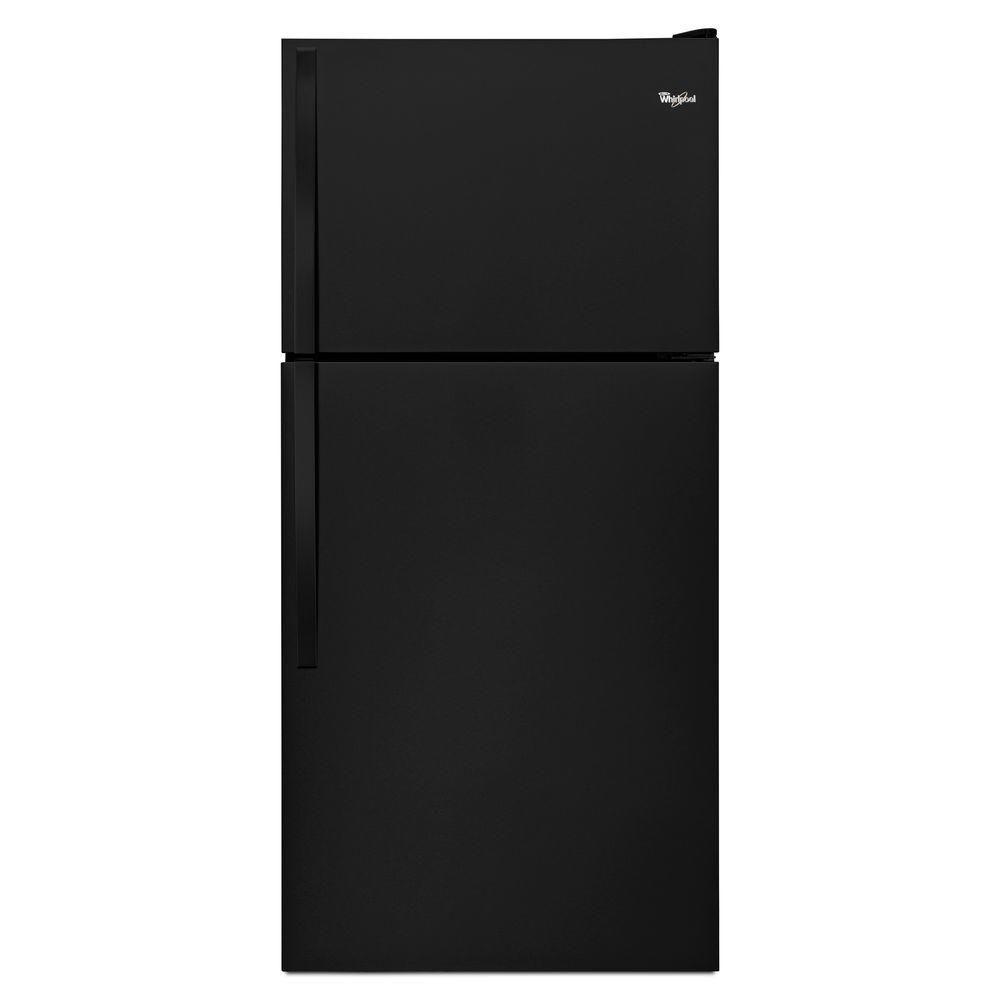Réfrigérateur à congélateur supérieur et de 18 pi cu, noir - WRT148FZDB