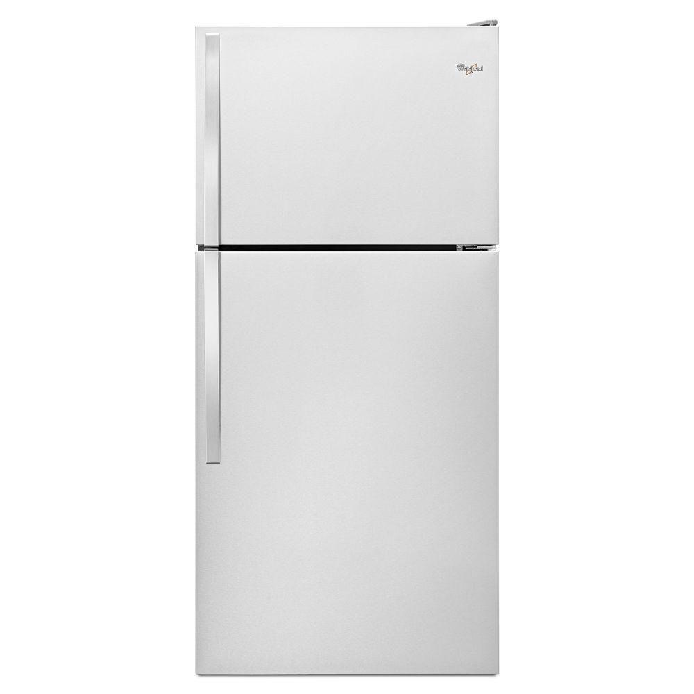 Réfrigérateur à congélateur supérieur et de 18 pi cu, Monochrome, Acier inoxydable - WRT148FZDM