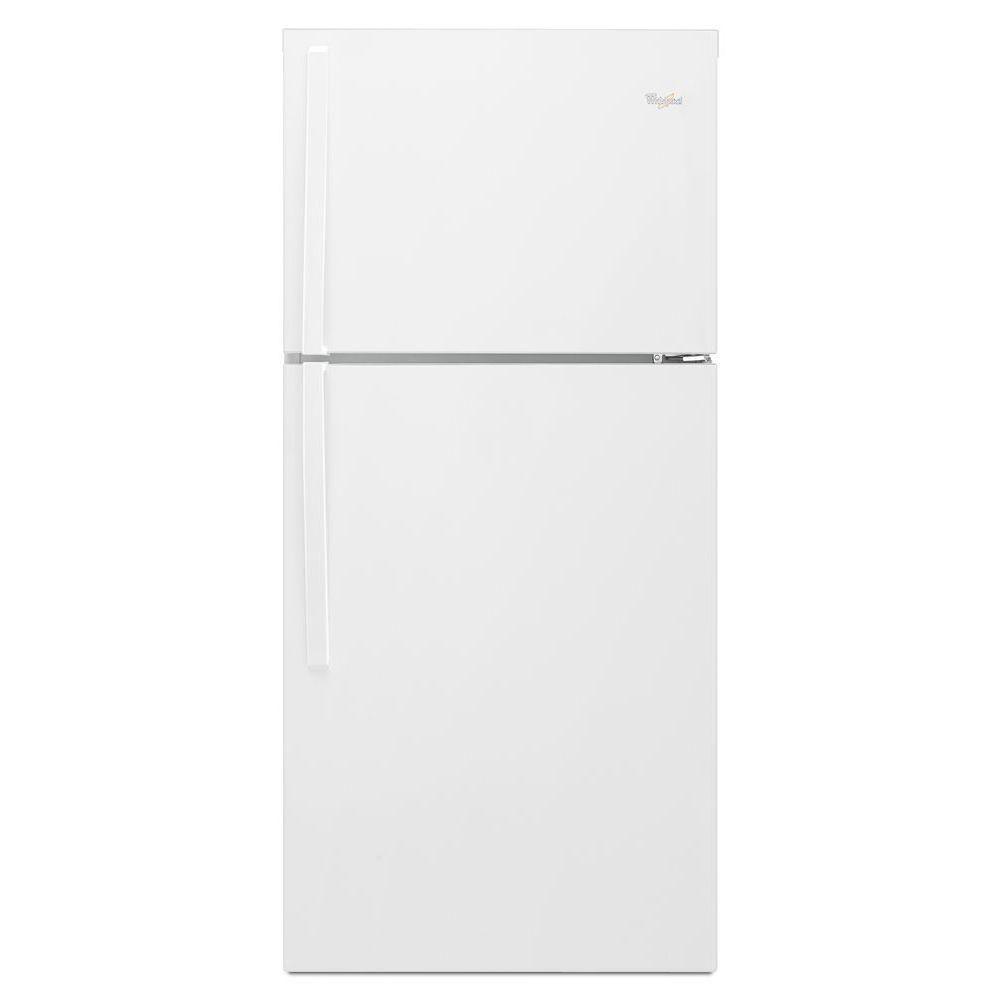 Réfrigérateur à congélateur supérieur et de 19 pi cu, blanc - WRT549SZDW