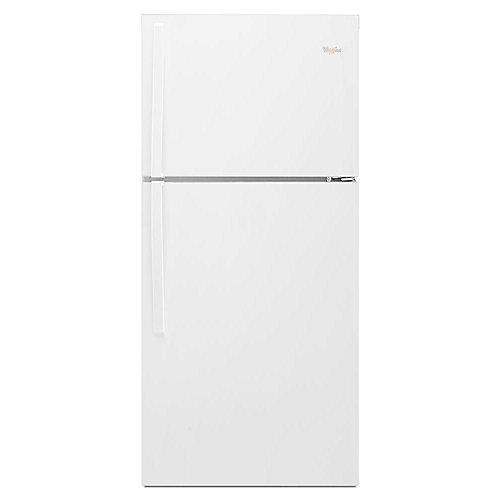 Réfrigérateur supérieur de 30 po W 19,2 pi3 en blanc - ENERGY STARMD