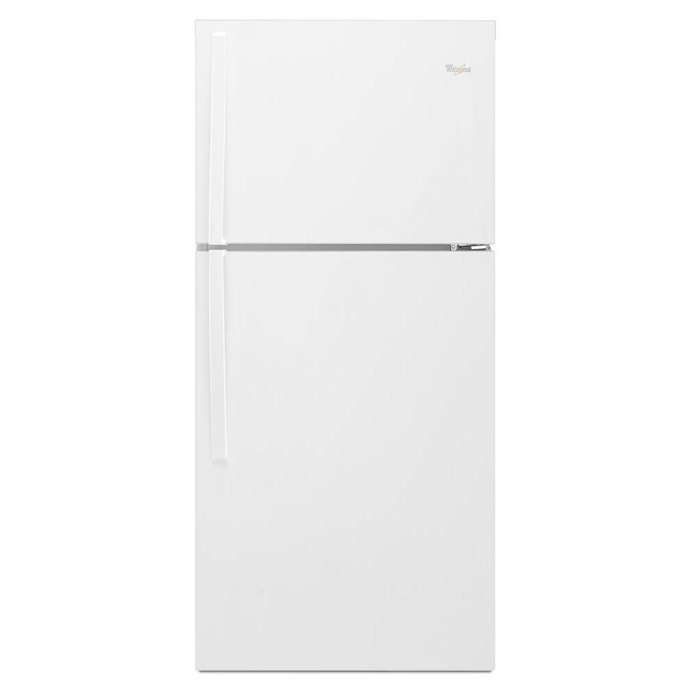 19.2 Top Freezer Refrigerator with LED Interior Lighting in White