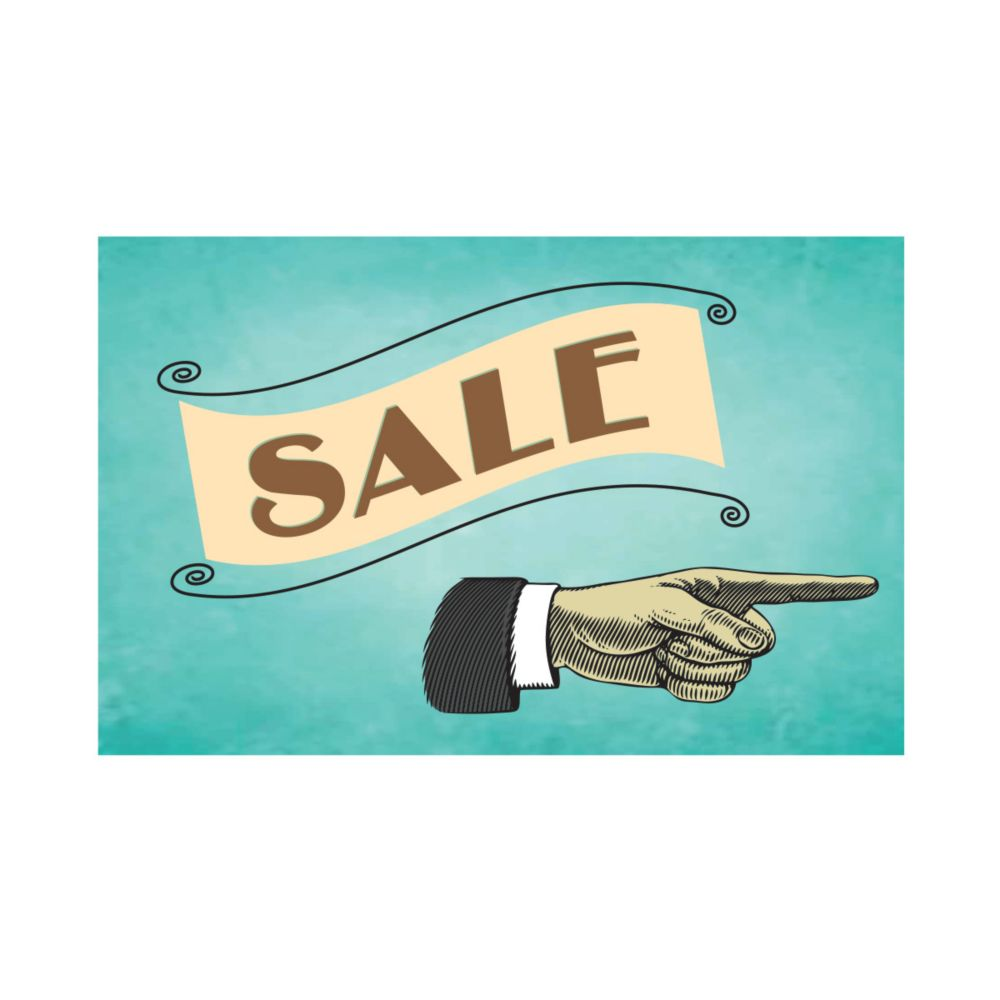 10 Inch X 14 Inch Aluminum Sign Vintage Sale Sign