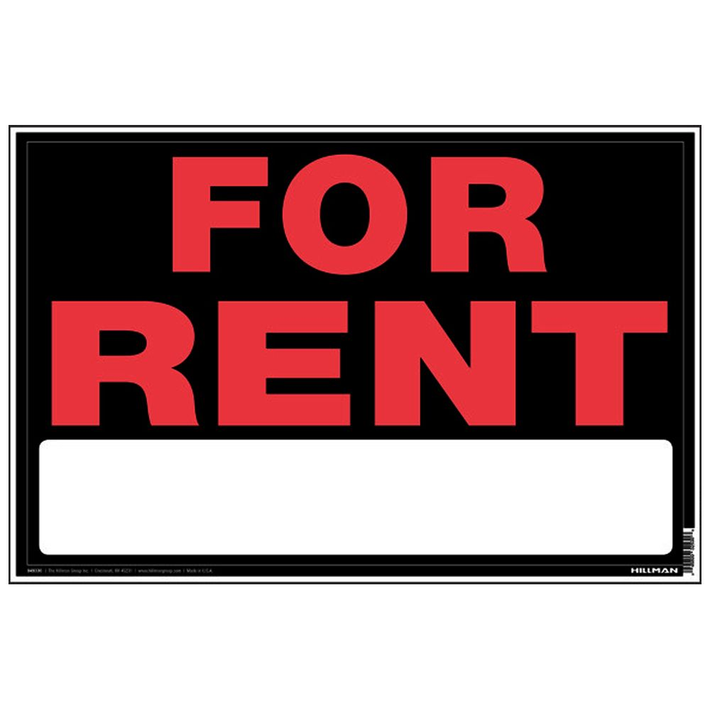 Forrrent: Hillman 8 X 12 Sign - For Rent