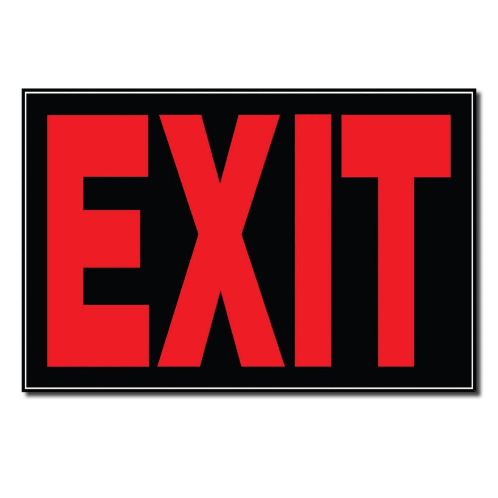 Hillman 8 X 12 Sign - Exit