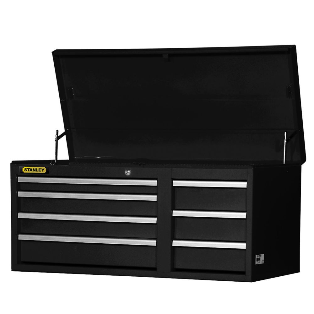 42 Inch 7 drawer Chest Black
