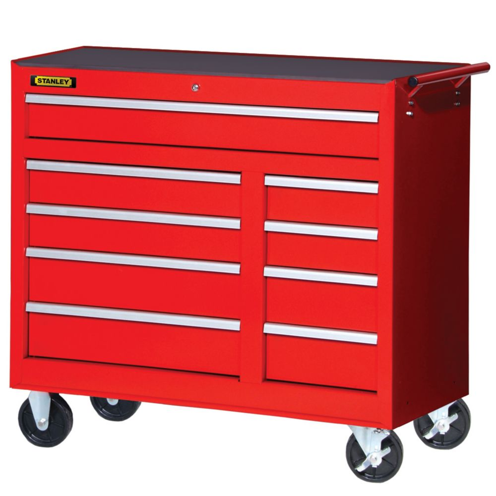 42-inch 9-Drawer Cabinet in  Red