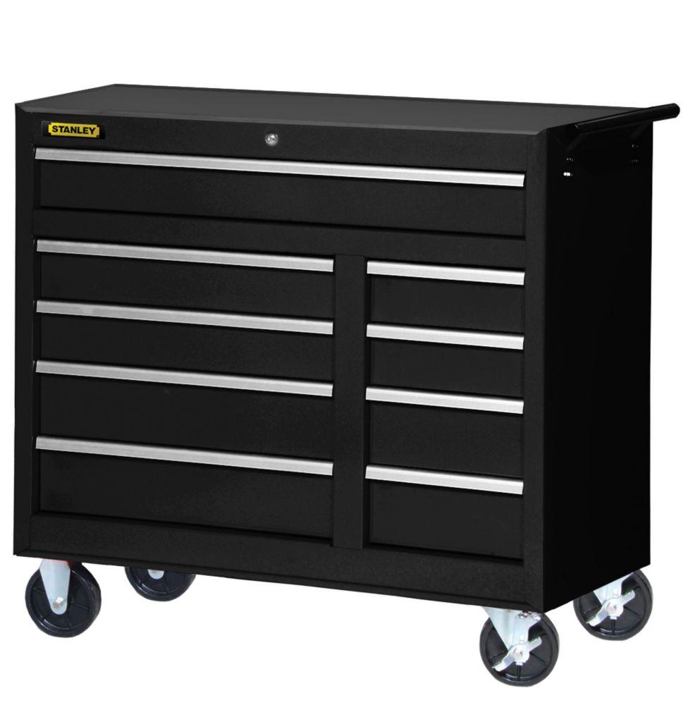 42 Inch 9 drawer Cabinet Black