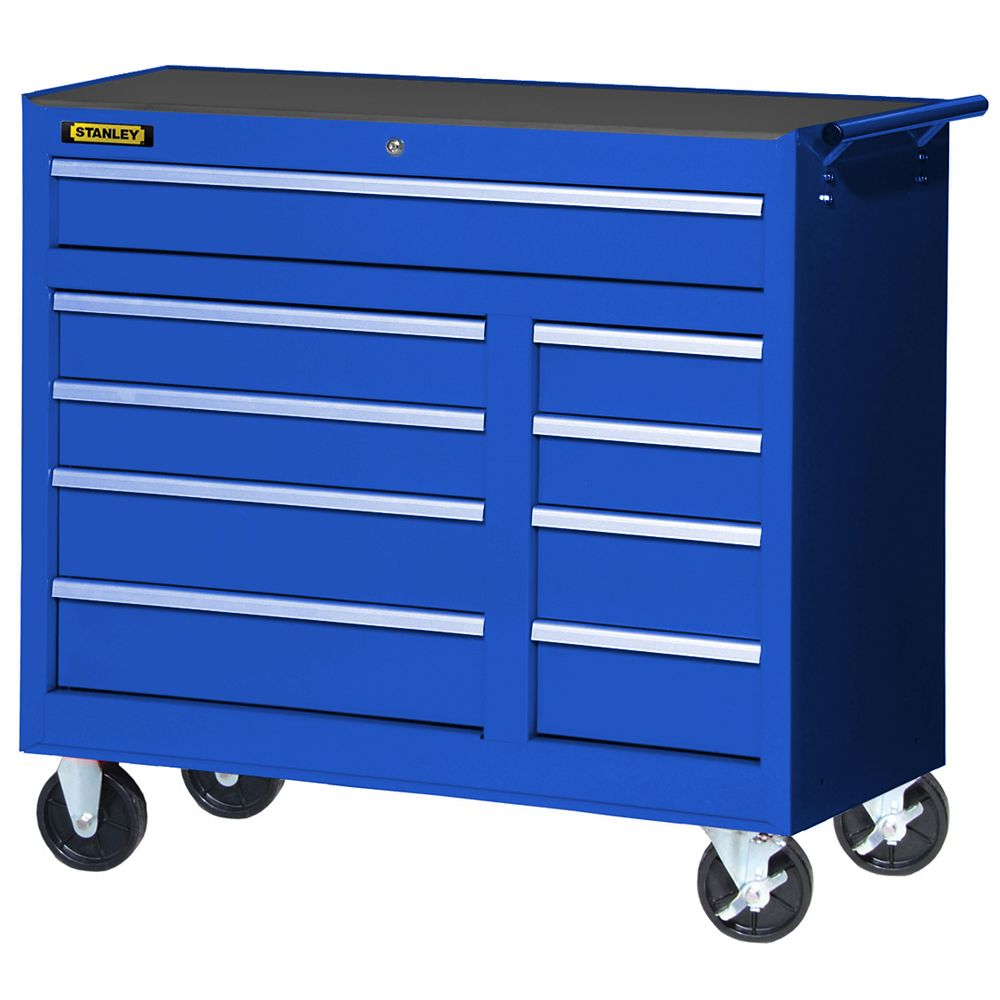 STANLEY 42-inch 9-Drawer Cabinet in Blue | The Home Depot ...