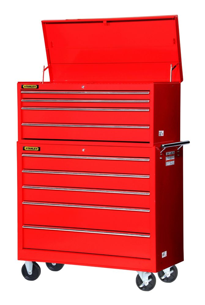 42 Inch 4 drawer Top Chest, Red