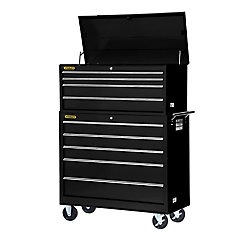 42 Inch 4 drawer Top Chest, Black