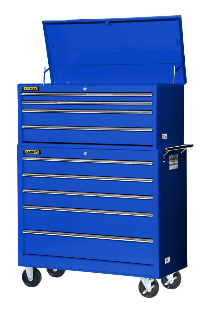 42 Inch 4 drawer Top Chest, Blue