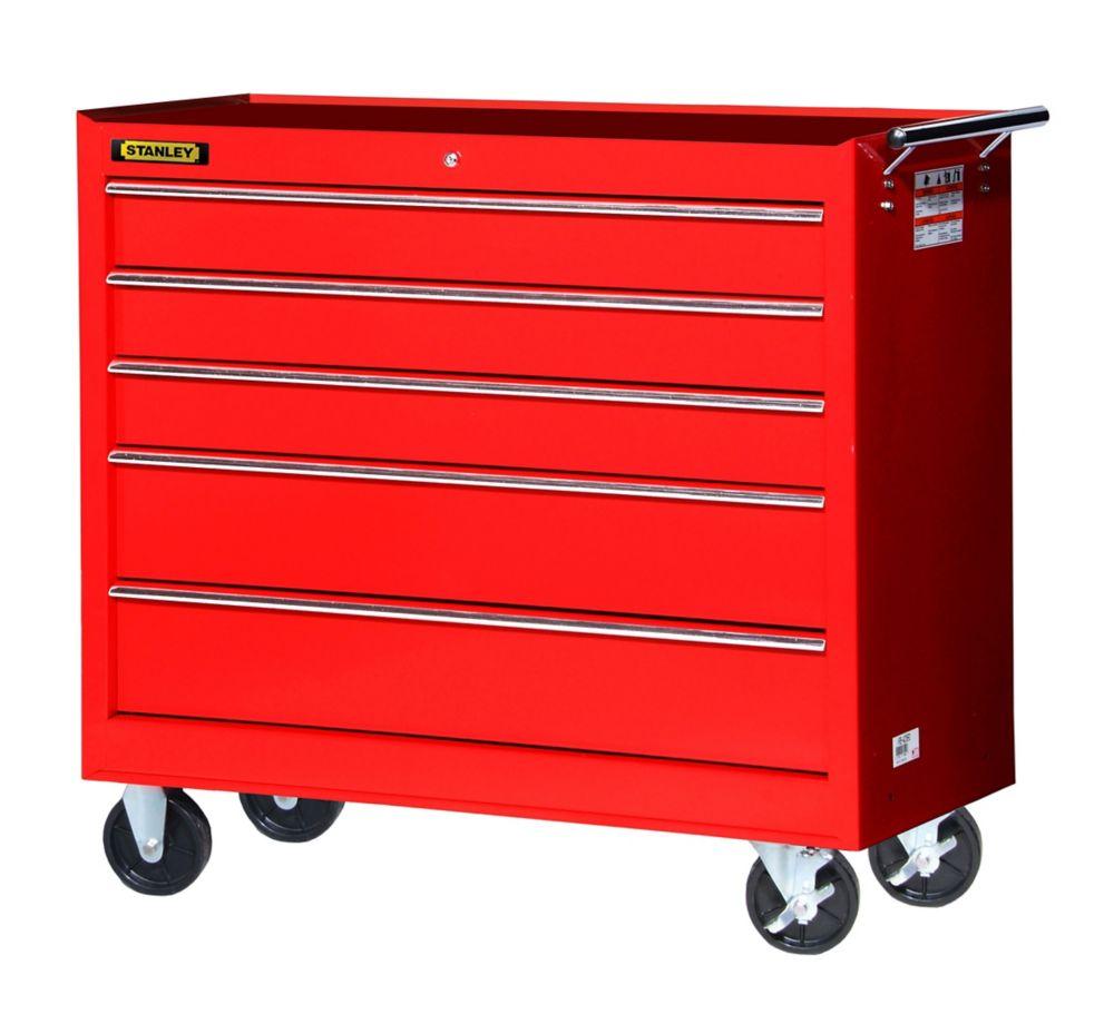 42 Inch 5 drawer Cabinet, Red
