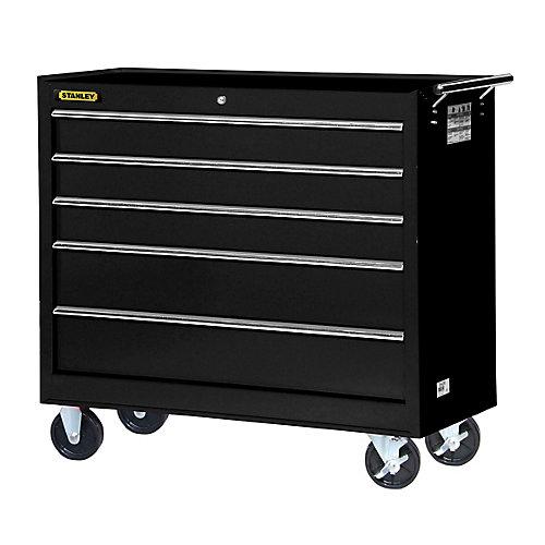 42 Inch 5 drawer Cabinet, Black
