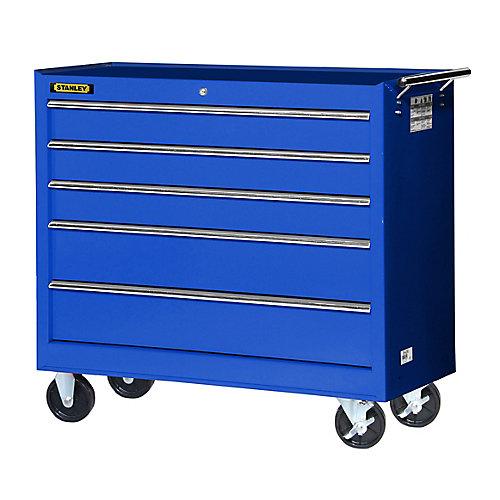 42 Inch 5 drawer Cabinet, Blue