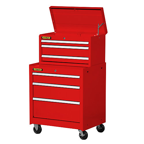 27 Inch 6 Drawer Combination Set, Red