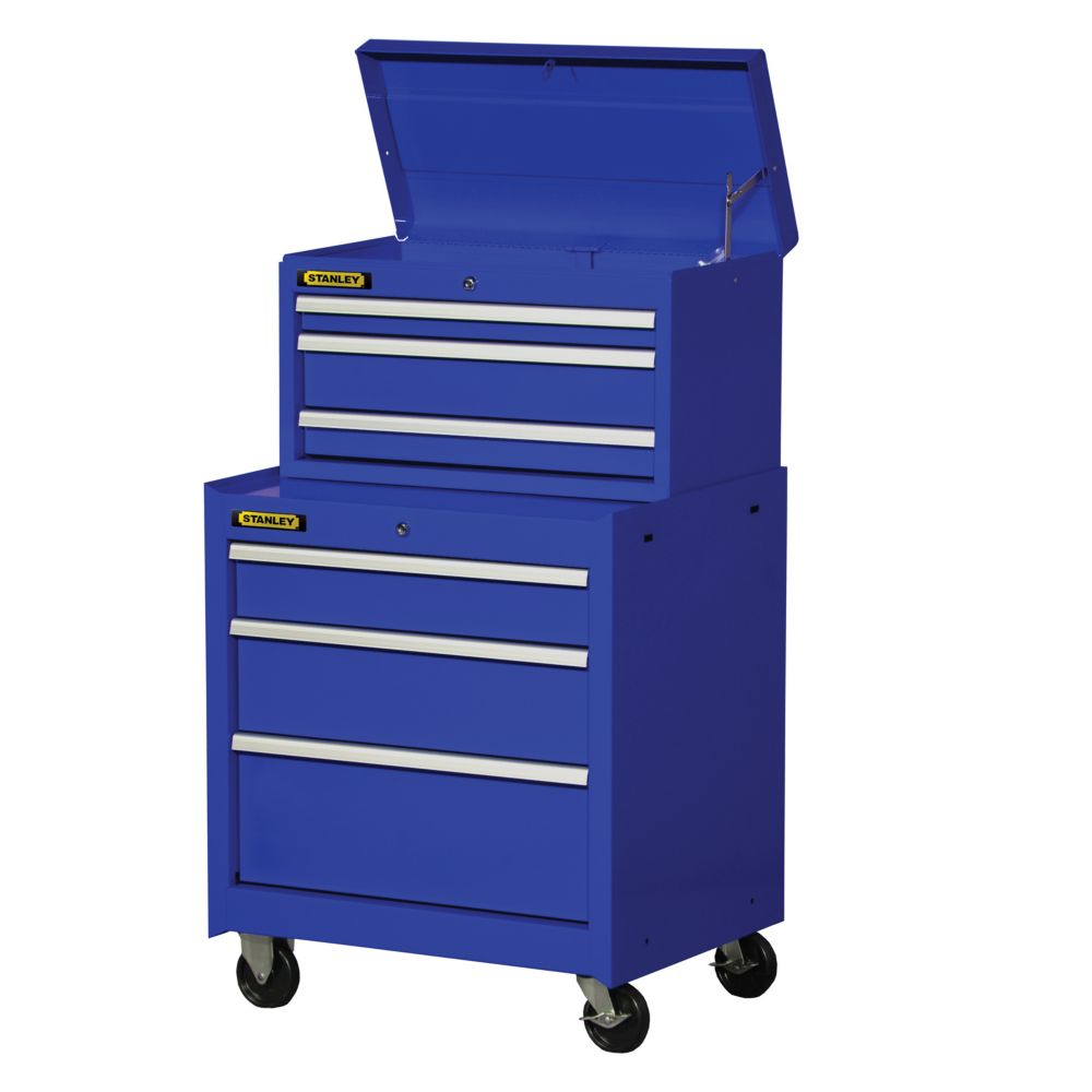 27 Inch 6 Drawer Combination Set, Blue