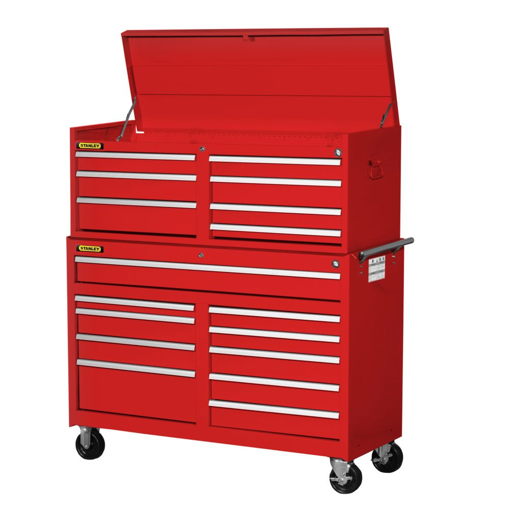 54 Inch 17 drawer Combination Set, Red