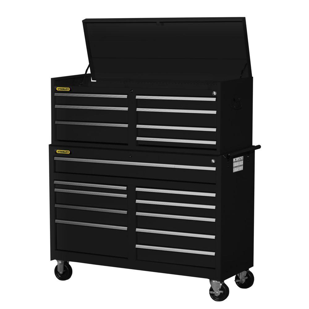 54 Inch 17 drawer Combination Set, Black