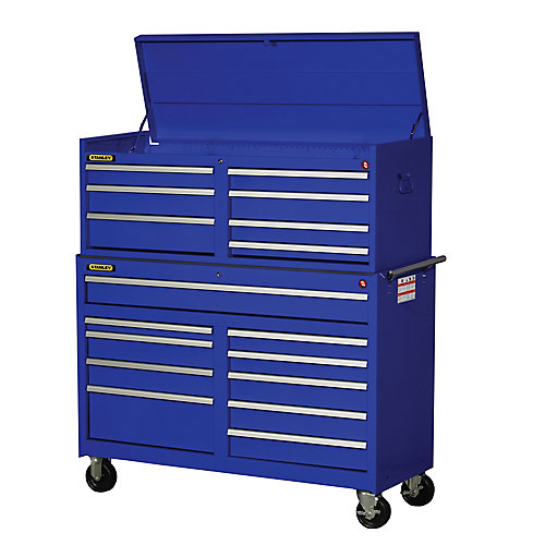 54 Inch 17 drawer Combination Set, Blue